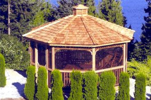 Amazon com : 14 ft Octagon Panelized Gazebo Kit : Garden