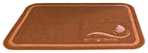 Kittycentric Cat Litter Trapping Mat - XL (35 x 24) - Premium Scatter Control - Durable - Phthalate-Free - Easy to...