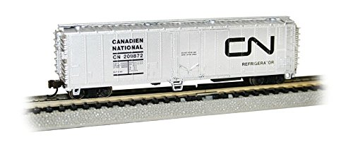 Bachmann Industries ACF 50' Steel Reefer Canadian National Car, N Scale 50' Express Reefer Car
