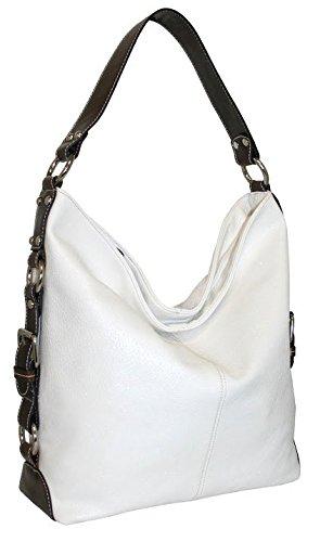 punto-uno-top-zip-bucket-bag-with-gusset-belting-detail-white