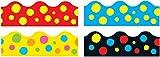 Trend Enterprises Lotsa Spots Terrific Trimmers - 2 1/4 x 156 in - Set of 48 Includes 4 Designs