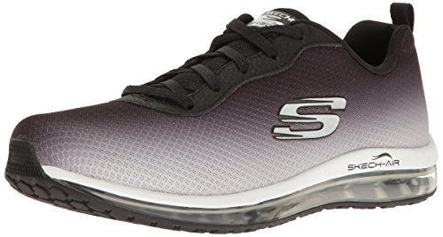 Fashion Air (Skechers Sport Women's Skech Air Element Fashion Sneaker,Black/White,7 M US)