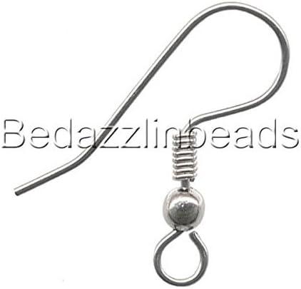 500pcs Stainless Steel Earring Hook Jewelry Accessory Women Ladies Ear Findings