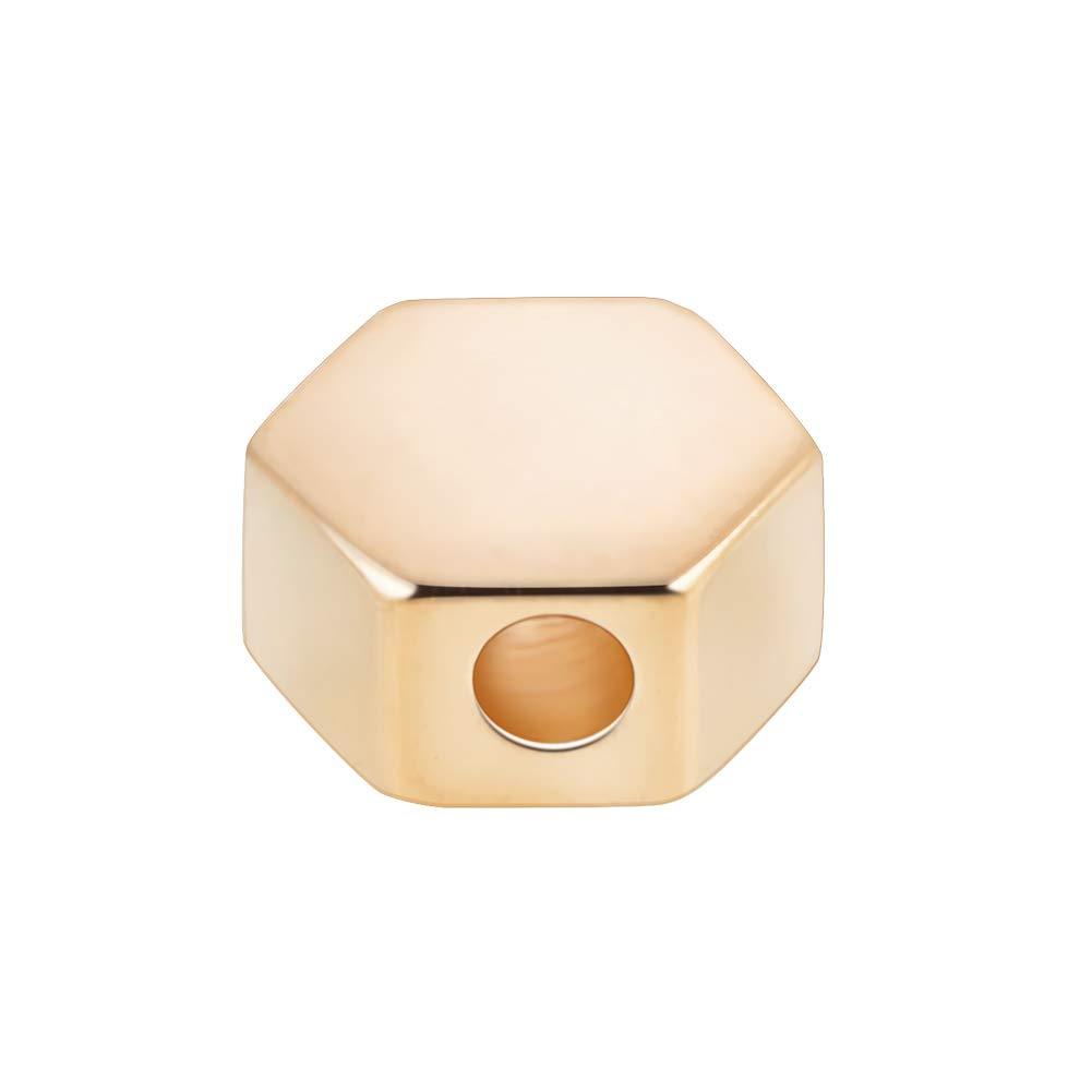 BENECREAT 30 PCS Placcato Oro Reale Perline per Gioielli Artigianali Fai da Te Accessori Perline Lunghe in Ottone Dorato colorato 6 Forme Miste