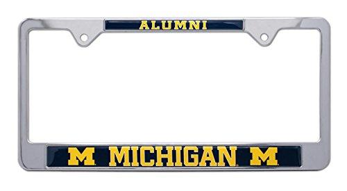 Elektroplate University of Michigan Alumni Metal License Plate -