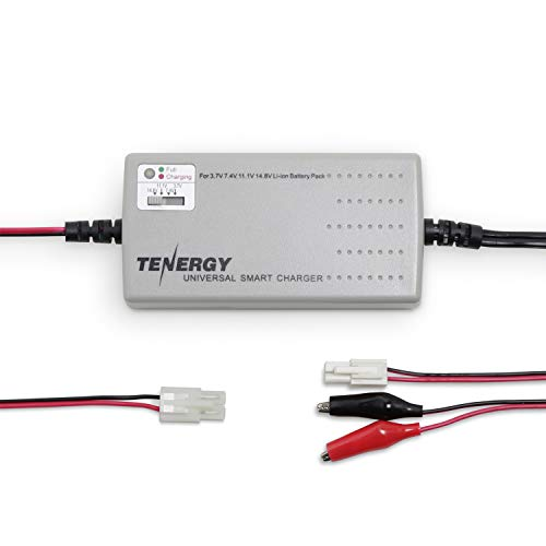 Tenergy TLP-2000 Smart Charger for Li-ion/ LiPo Battery Pack (1-4 Cells) w/ 4 Voltage Selections at 3.7V, 7.4V, 11.1V and 14.8V, Compatible with Tamiya/ Mini Tamiya/ Alligator Clip Connector