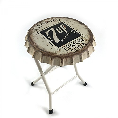 Vintage Parts 323928 Folding 7up Soda Bottle Cap Stool or Side Table