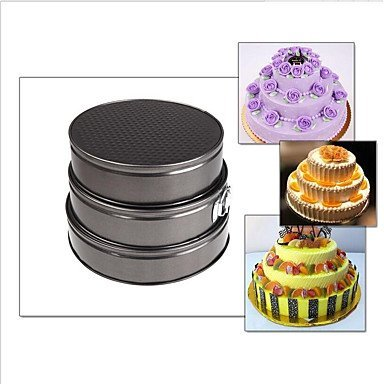 DY2DY 3Piece Set Roasting Pans Round For Cake Metal (29 Halloween Recipes)