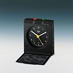 Braun Black Reflex Controlled Travel Alarm Clock