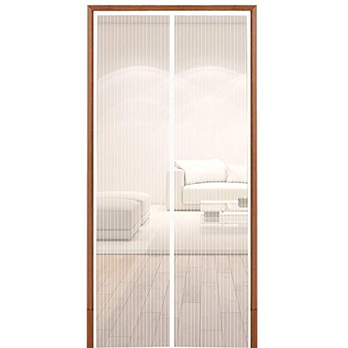 - Hoobest White Magnetic Screen Door,Heavy Duty Mesh Screen, Full Frame Fastener Tape-Keep Bugs Out,Let Fresh Air in,Close Automaticlly.(Screen Size 39inchx83inch Fits 36inch Doors)