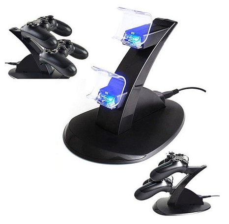 [Dual Controller LED Charger Dock Station PlayStation 4 PS4 USB Charging] (Third Leg Costume)