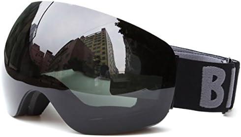 59f9bd6857 Huntvp Gafas de Esquí Profesional Cómodo y Respirable Nieve Ski Goggle  Anti-Niebla y Anti-UV Unisex Color Marrón. Cargando imágenes.