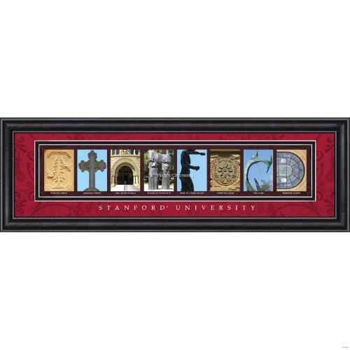 Prints Charming Letter Art Framed Print, Stanford University-Stanford, Bold Color - Stanford Mall