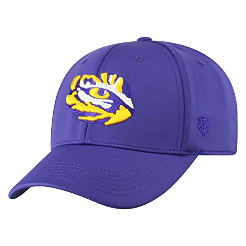 Top of the World LSU Tigers Men's Fitted Hat Icon, Purple, One Fit ()