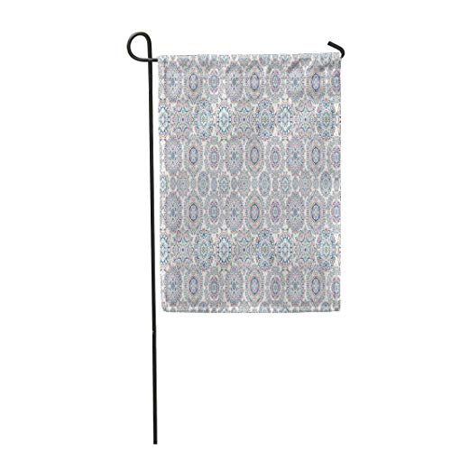 Semtomn Garden Flag Symbol of Winter Watercolor Snowflakes on Violet Neutral 28