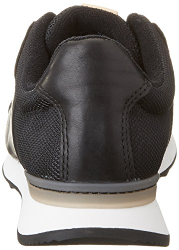 Leather Black Mix Basse Donna Floura Nero Ginnastica Scarpe da Clarks vqzHF