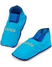 ICEHOF Skarpety chłodzące (1 para) z delikatnego materiału – buty chłodzące z żelową terapią zimnem dla stóp w przypadku chemioterapii – rozmiar uniwersalny uniseks