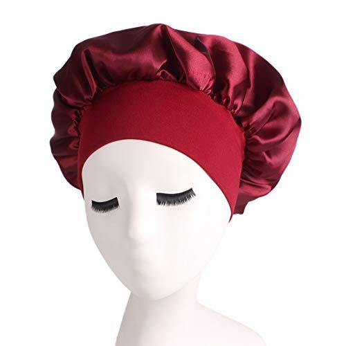 - Satin Sleeping Cap Salon Bonnet Night Hat Hair Loss Chemo Caps for Women