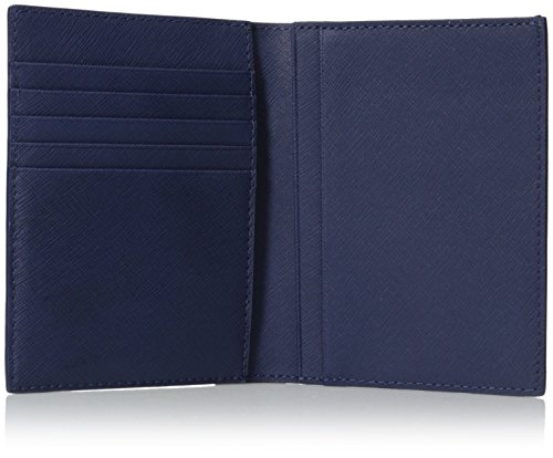 Jack Spade Jack Leather Wallet Admiral Passport Blue Barrow Spade Men's wwr7Raq