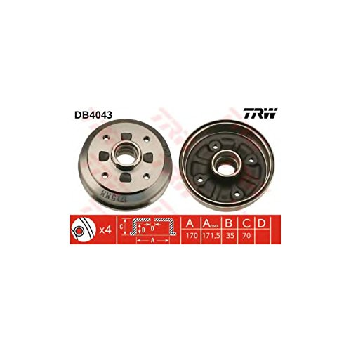 TRW DB4043 Brake Drums: