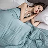 """Pine and River Chilled Bamboo Weighted Blanket - Perfect for Warmer Climates - 