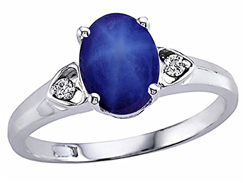 Tommaso-Design-Created-Star-Sapphire-Oval-8x6mm-Ring-14kt-Gold