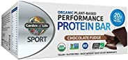 Garden of Life Sport Protein Bars, Organic Plant Based High Protein Bars - Chocolate Fudge, 20g Pure Protein p