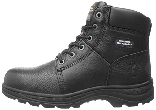 Skechers for Work Men's Workshire Relaxed Fit Work Steel Toe Boot,Black,10.5 W US by Skechers (Image #5)