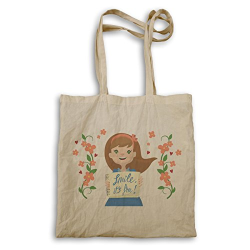 Smile Happy Day Positive Vibes Gift Tote Bag E945r
