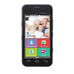 "Wolder mismart XENIOR - Smartphone 4.5"" (512 MB RAM, 4 GB Flash, WiFi, Android) Teléfono Móvil para Personas Mayores"