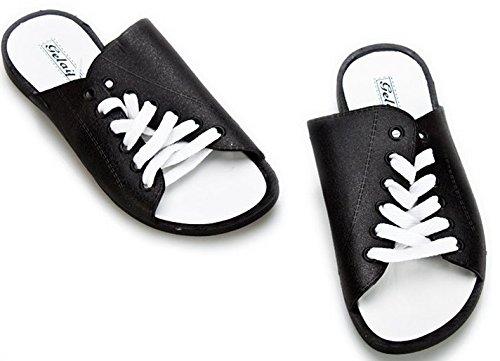 Xing Lin Sandalias De Hombre Tendencia De Verano Chanclas Flip-Flops De Hombres Amantes De La Moda Zapatos Sandalias Zapatos De Hombre Cuidado De Tamaño Grande Black and white