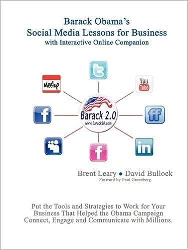 Book Barack Obama's Social Media Lessons For Business by David Bullock (2008-12-26)