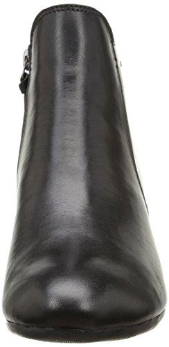 Negro Botas Clarks Leather cuero de Mujer Melanie Su Gtx Black wHFqx0OH