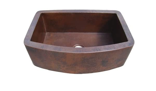 Admirable Ariellina Farmhouse 14 Gauge Hammered Copper Kitchen Sink Interior Design Ideas Inesswwsoteloinfo