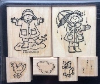 Rainy Day Rubber - Stampin' Up! Rainy Days Wood Mounted Rubber Stamps - Set of 6