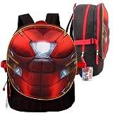 "Backpack - Marvel - Iron Man Chest Shape 17"" School Bag 63286"