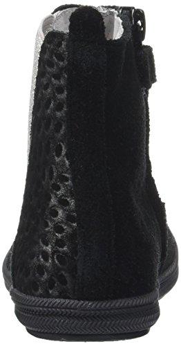 Minibel Mädchen Nelia Chelsea Boots Noir (Noir/Imp Argent)