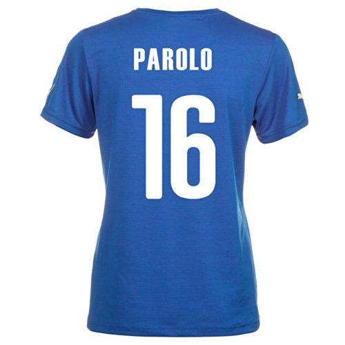 対人影のある強調Puma PAROLO #16 Italy Home Jersey World Cup 2014 (Women)/サッカーユニフォーム イタリア ホーム用 ワールドカップ2014 背番号16 パローロ レディース