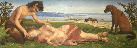 The Perfect Effect Canvas Of Oil Painting Piero Di Cosimo A Satyr Mourning Over A Nymph 1495  Size  8X23 Inch   20X58 Cm  This High Definition Art Decorative Canvas Prints Is Fit For Home Office Decor And Home Artwork And Gifts