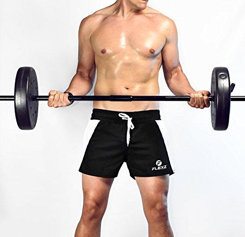 Flexz Fitness Men's Ibiza Golds Aesthetic Muscle Gym Shorts