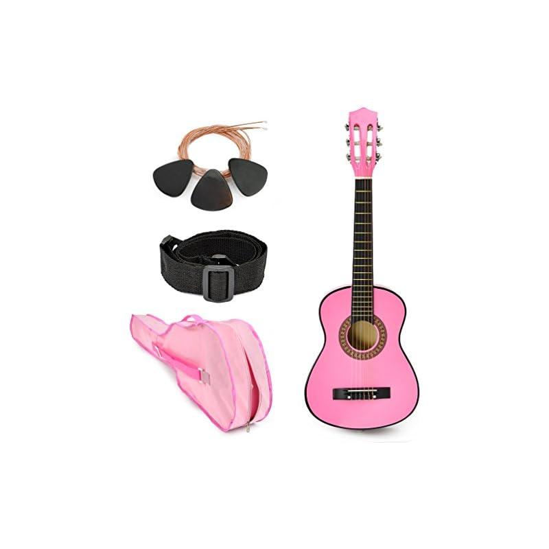 new-30-left-handed-pink-wood-guitar