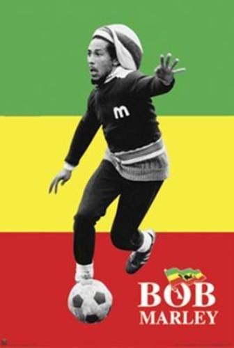 Anonymous - Bob Marley - Soccer rasta NO LONGER IN PRINT - LAST (Bob Marley Soccer Poster)