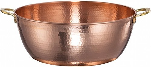 New DEMMEX 1.5mm Thick Hammered Copper Jam Pan, 11.6 Quart by DEMMEX