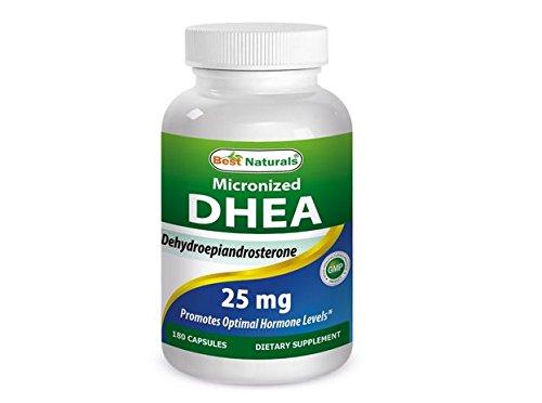 Mejor naturales, DHEA micronizado 25 mg 180 cápsulas