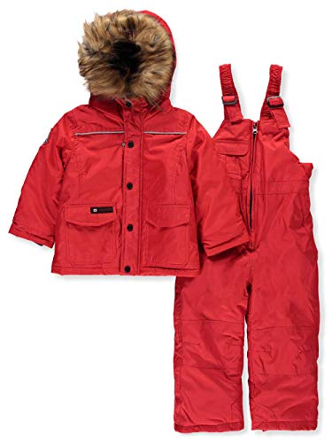 CANADA WEATHER GEAR Unisex' 2-Piece Snowsuit - red, 4t