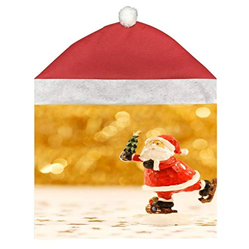 (dreambest Old People Sledding Santa Claus Christmas Ornament Chair Set, 1 Piece, Red)