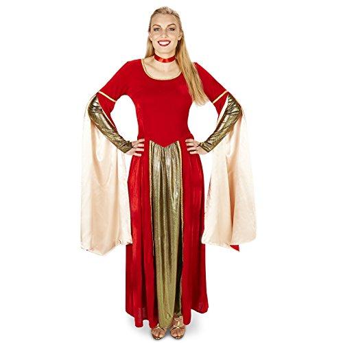 Red Velvet Renaissance Dress Adult Costume L (Fair Maiden Renaissance Costume)