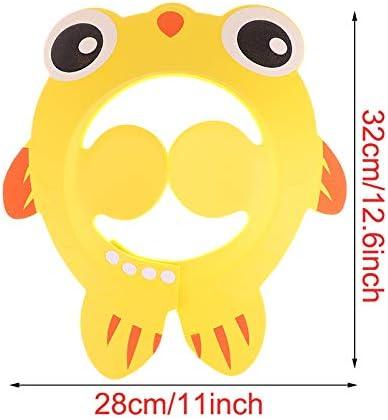 SUNTRADE 3PCS Adjustable Cartoon Baby Bathing Visor,Safe Shampoo Shower Bathing Protect Soft Cap Hat for Baby Children Kids