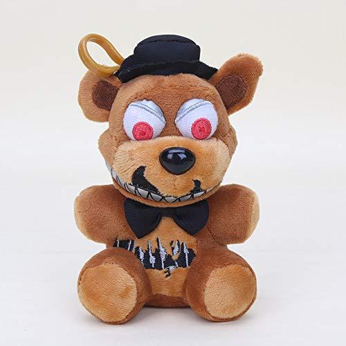 Panamat Movies & TV - 14cm Five Nights at Freddy FNAF Nightmare Freddy Fazbear Fox Bear Bonnie Mangle Chica Toys Plush Pendants Keychains Dolls 1 PCs