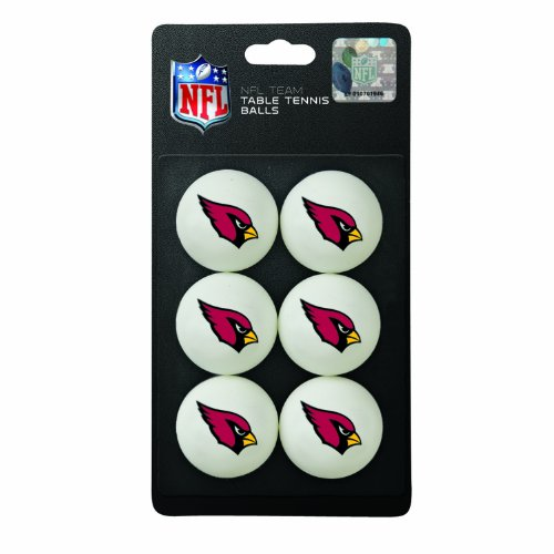 Franklin Sports NFL Arizona Cardinals Franklin Table Tennis Balls 6 pack ()